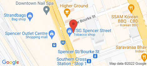 Location map for 200 Spencer Street Melbourne
