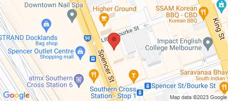 Location map for 1803/200 Spencer Street Melbourne