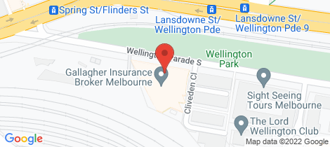 Location map for 1303/279 Wellington Parade South East Melbourne