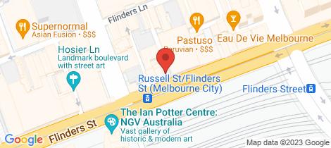 Location map for 8/130 Flinders Street Melbourne