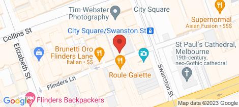 Location map for 54/234 Flinders Lane Melbourne