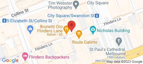 Location map for 511/238-244 Flinders Lane Melbourne