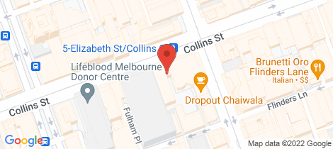 Location map for 1004/325 Collins Street Melbourne