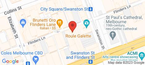 Location map for 402/241 Flinders Lane Melbourne