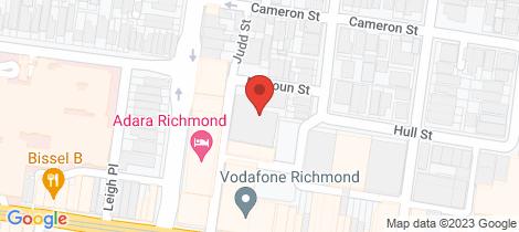 Location map for 402/2 McGoun Street Richmond