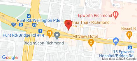 Location map for 39 Bridge Road Richmond