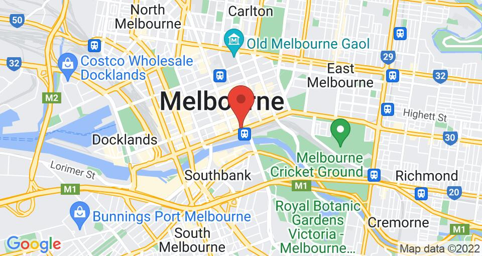 Google Map of UniLodge on Flinders - Student Accommodation Melbourne