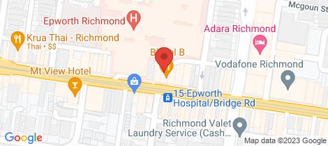 Location map for 109 Bridge Road Richmond