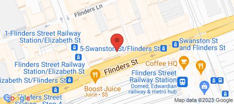 Location map for 722/268 Flinders Street Melbourne