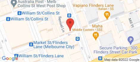 Location map for 704/39 Queen Street Melbourne