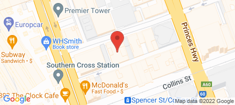 Location map for H11/601 Little Collins Street Melbourne