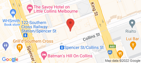 Location map for 1208/568 Collins Street Melbourne