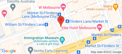Location map for 810/29 Market Street Melbourne