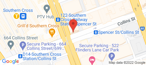 Location map for 1804/620 Collins Street Melbourne