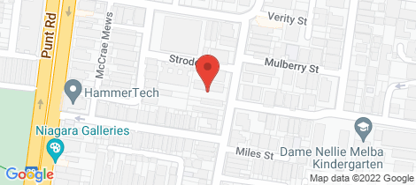 Location map for 1/26 Rotherwood Street Richmond