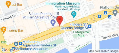 Location map for 1712/1 William Street Melbourne