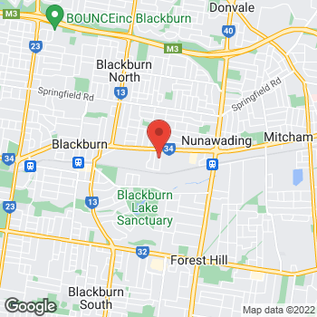 Map of O'Brien® Glass Melbourne at 12-14 Ceylon St, Nunawading, VIC 3131