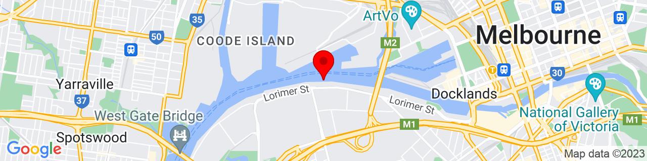 Google Map of -37.819786111111114, 144.9227138888889