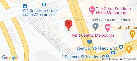 Location map for 405/53 Spencer Street Docklands