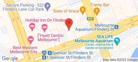 Location map for 1308/7 Katherine Place Melbourne
