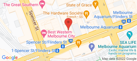 Location map for 1907/8 Downie Street Melbourne