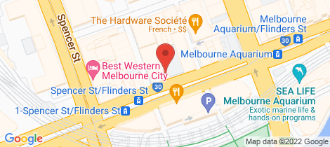 Location map for 101/546 Flinders Street Melbourne
