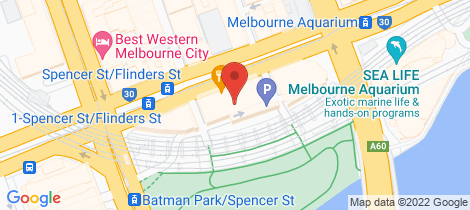 Location map for 1303/555 Flinders Street Melbourne