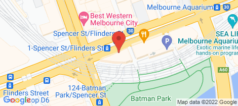 Location map for 108/565 Flinders Street Melbourne