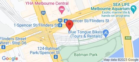 Location map for 707/565 Flinders Street Melbourne