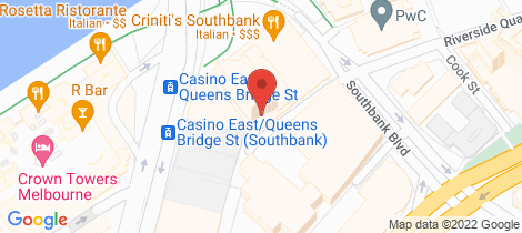 Location map for 1302/1 Freshwater Place Southbank