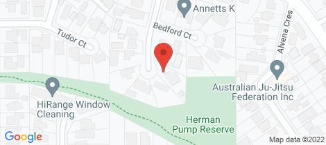Location map for 10 Bedford Court Heathmont