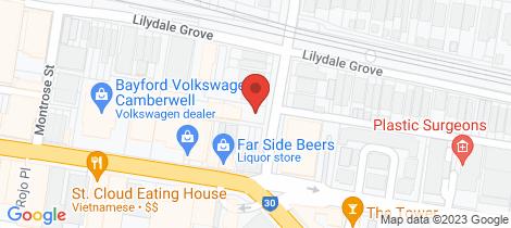 Location map for B107/12 Albert Street Hawthorn East