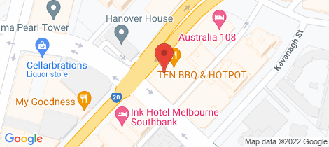Location map for 1012/151 City Road Southbank