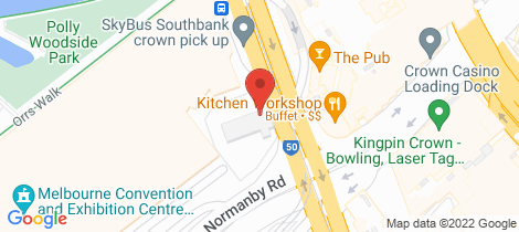 Location map for Grd Fl/ 28 Clarendon Street Southbank