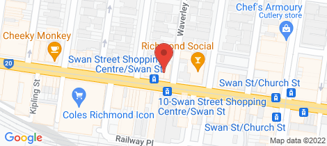 Location map for 2/145 Swan St Richmond