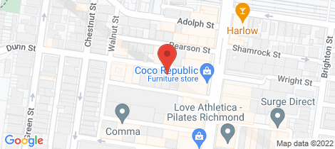 Location map for 22 Chapel Street Cremorne