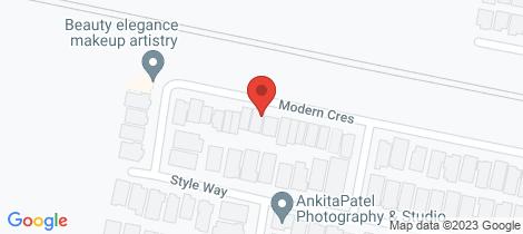 Location map for 20 Modern Crescent Tarneit