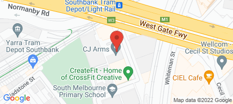 Location map for 1/2 Meaden Street South Melbourne