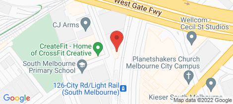 Location map for 1 7 Meaden Street South Melbourne