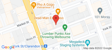 Location map for 1/18 Ross Street South Melbourne