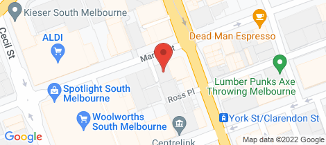 Location map for 63-69 Market Street South Melbourne