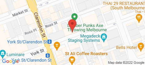 Location map for 1 50-56 York St South Melbourne