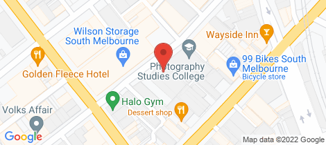 Location map for 51-55 Thistlethwaite Street South Melbourne