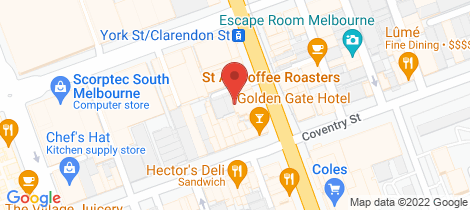 Location map for 224 Clarendon Street South Melbourne