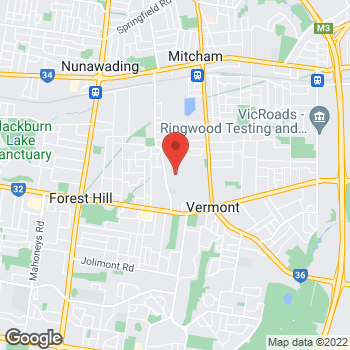 Map of O'Brien Electrical & Plumbing Vermont at Factory 10/137-145 Rooks Rd, Vermont, VIC 3133