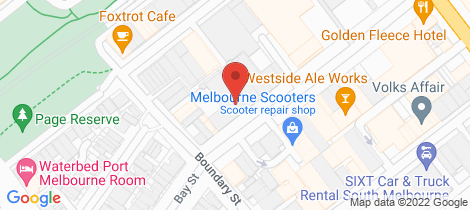 Location map for 170-180 Buckhurst Street South Melbourne