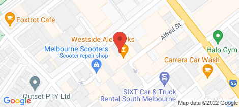 Location map for 129 Buckhurst Street South Melbourne