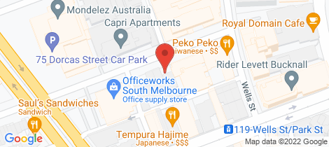 Location map for L1, (Rear) 31-33 Bank Street South Melbourne