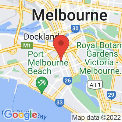 Map showing Padre Coffee South Melbourne Market