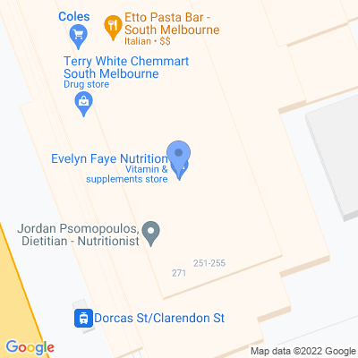Evelyn Faye Nutrition 269 Clarendon Street South Melbourne , SOUTH MELBOURNE, VIC 3205, AU